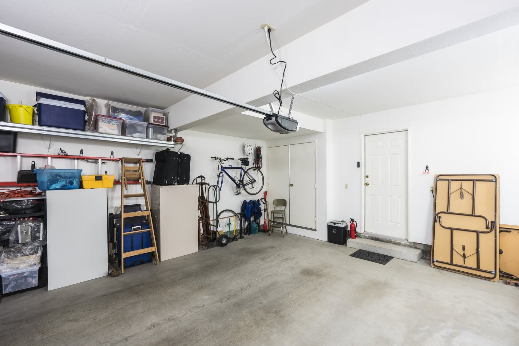Clean organized residential garage
